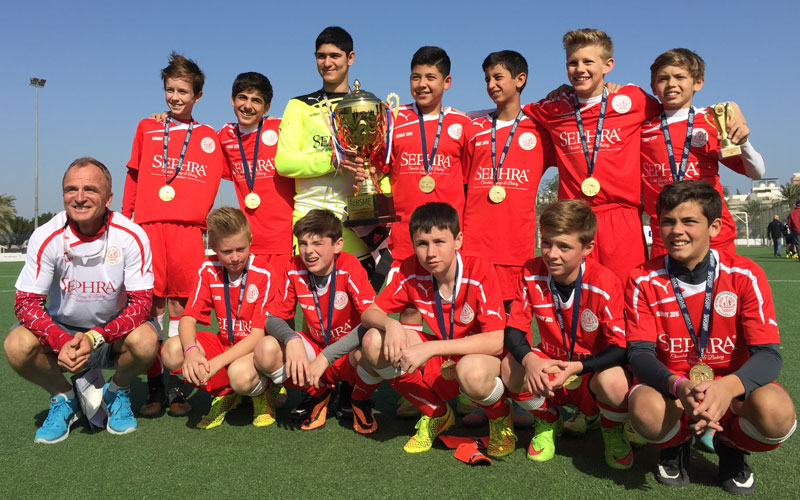 Sephra Bahrain sponsor St. Christopher's School football team