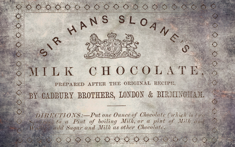 Sir Hans Sloane is credited with bringing the recipe for drinking chocolate to Europe.
